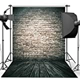 Photography Backdrop, 1.5 x 2.1 m Antique Brick Wall Wood Floor Backdrop For Studio Props Photo Backdrop