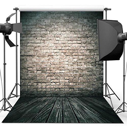 Fotografie Hintergrund, 1.5 x 2.2 M Antike Mauer Holzboden Hintergrund Für Fotografie Studio Videoaufnahme
