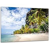 Strand Insel Saona Wandbild I Karibik Meer Druck Leinwand Acryl-Glas Dibond