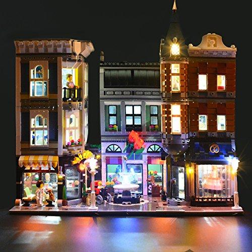 LIGHTAILING Conjunto de Luces (Gran Plaza) Modelo de Construcción de Bloques - Kit de luz LED Compatible con Lego 10255 (NO Incluido en el Modelo)