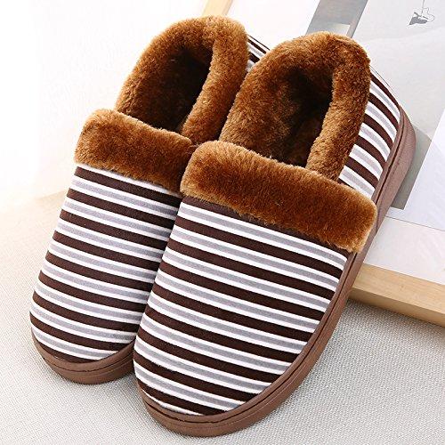 YMFIE Les hommes dhiver chers amants coton chaussons chaussures chaudes S