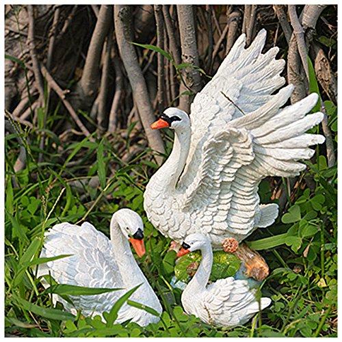 Gartendeko Kostüm - Lanlan europäischen Home Innendekoration Micro Landschaft Kreativ DIY Kunstharz Swan Innendekoration Dekoration 3