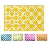 """Well Woven Teppich """"Calipso"""", in moderner Optik mit geometrischem Design, 50x 80cm, Polypropylen, gelb, 60 x 220 cm Runnner"""