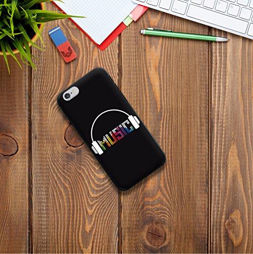 iPhone 6 6S Hülle, WoowCase Handyhülle Silikon für [ iPhone 6 6S ] Bunte Mandala Handytasche Handy Cover Case Schutzhülle Flexible TPU - Transparent Housse Gel iPhone 6 6S Schwarze D0191