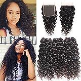 Ms Taj Extensions de cheveux humains naturels ondulés, 3trames, 7A brésilien, noirs