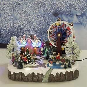 Paesaggio con giostra musica luce e movimento elettrica natale addobbi natalizi negozi gt 742867 - Addobbi natale cucina ...