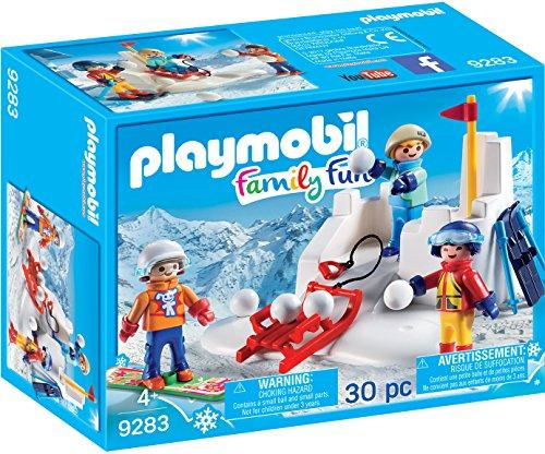 Playmobil-9283 Lucha de Bolas de Nieve