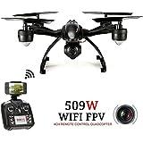 Goolsky JXD 509W 6-Achsen Gyro Wifi FPV RC Quadrocopter mit 0.3MP Kamera Hohe Halten CF Modus Ein Schlüssel Zurück Drohne MobilePhone Control Spielzeug