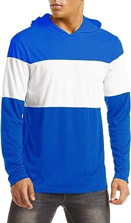 Angelbekleidung Langarm Outdoor Shirt Schnelltrocknend Jogging Schutzkleidung Laufshirt Safort Herren UV Schutz Shirt UPF 50