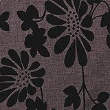 Finezja Struktur-Polsterstoff Bezugstoff Web-Stoff Flock-Druck Dekor-Muster Floral Blumen Meterware Camel