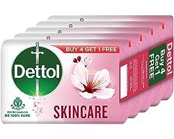 Dettol Skincare Germ Protection Bathing Soap bar 125gm, Buy 4 Get 1