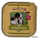 Classic Dog Geflügel & Rind | 20x 150g Hundefutter nass