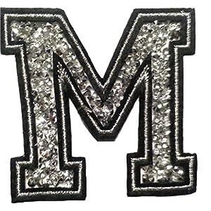 Basteln & Kreativität Buchstaben Initialen Alphabet ABC Bügelbild Patch Miniblings 5cm Buchstabe X