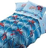 Trapunta SPIDERMAN POWER caleffi singola azzurro cm.170x265 -peso invernale -TESSUTO MICROFIBRA