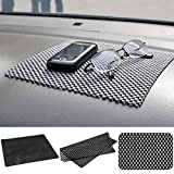 #9: Black Multipurpose Non Slip Anti Skid Car Dashboard Mat Keeping Your Mobile Phone,Ipod,Wallet,Keys etc