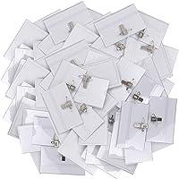 BESTZY 50PCS Badges Porte Nom Protège Carte Vinyle Transparent Étanche Porte Badge Horizontal avec Épingle à Nourrice et…