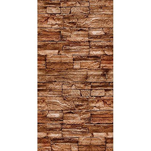 murando - Vlies Tapete - Deko Panel Fototapete - Wandtapete - Wand Deko - 10 m Tapetenrolle - Mustertapete - Wandtapete - modern design - Dekoration - Steine Steinwand Steinoptik Wand f-A-0173-j-d