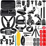 Neewer 58-in-1 Action Camera - Kit accessori per GoPro Hero Session/5 Hero 1 2 3 3+ 4 5 SJ4000 5000 6000 DBPOWER AKASO VicTsing APEMAN WiMiUS Rollei QUMOX Lightdow Campark E Sony DV Sport e più