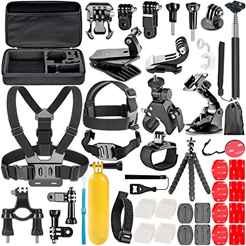 Galleria fotografica Neewer 58-in-1 Action Camera - Kit accessori per GoPro Hero Session/5 Hero 1 2 3 3+ 4 5 SJ4000 5000 6000 DBPOWER AKASO VicTsing APEMAN WiMiUS Rollei QUMOX Lightdow Campark E Sony DV Sport e più