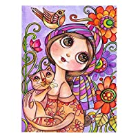 Wisilan Girl Diamond Painting Cartoon Canvas Diamond Painting Kits Cute Cross Stitch Art Craft for Happy Pastime Relaxing