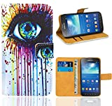 FoneExpert® Samsung Galaxy S4 Active i9295 Handy Tasche, Wallet Case Flip Cover Hüllen Etui Ledertasche Lederhülle Premium Schutzhülle für Samsung Galaxy S4 Active i9295