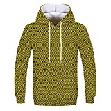NINGSANJIN Herren Pullover Kapuzenpullover Pullover, Hoodie Basic Kapuze Crew Neck Sweatshirt Longsleeve Langarm Sweater (Gelb,M)
