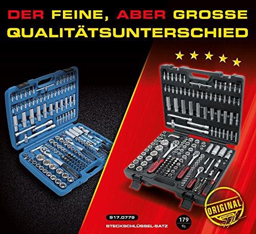 KS Tools 917.0779 1/4″ + 3/8″ + 1/2″ Steckschlüssel-Satz, 179-tlg.