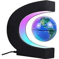 JOWHOL Magnetic Floating Globe with LED Light,C Shape Levitation,Auto-Rotating Globe,World Map for Desk Decoration,Gift…