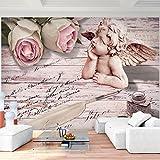 Fototapete Vintage Blumen - Vlies Wand Tapete Wohnzimmer Schlafzimmer Büro Flur Dekoration Wandbilder XXL Moderne Wanddeko - 100% MADE IN GERMANY - 9228010b