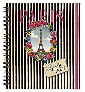 Exacompta 186741e Agenda spirale Format 18 x 18 Tour Eiffel Année 2017