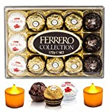 #10: Ferrero Rocher Assorted Chocolates - 15 Pieces- Combined With 2 Natural Yellow LED Diya