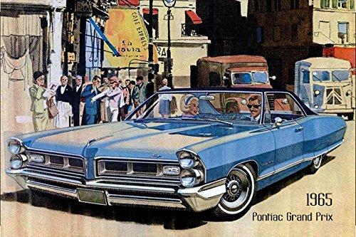 pontiac-grand-prix-1965-auto-reklame-blechschild-us-blau