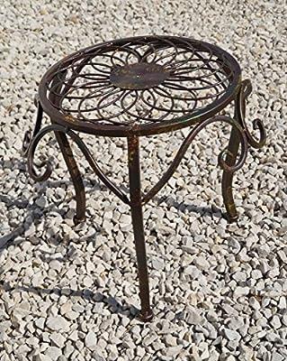 """Hocker """"Lucca"""" mittel, Metall in braun, GD155 von Unbekannt - Gartenmöbel von Du und Dein Garten"""