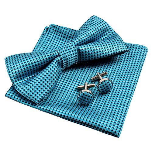 Enjoymore Herren Fliege Gr. onesize, Bluish Green (Tie Bow Green)