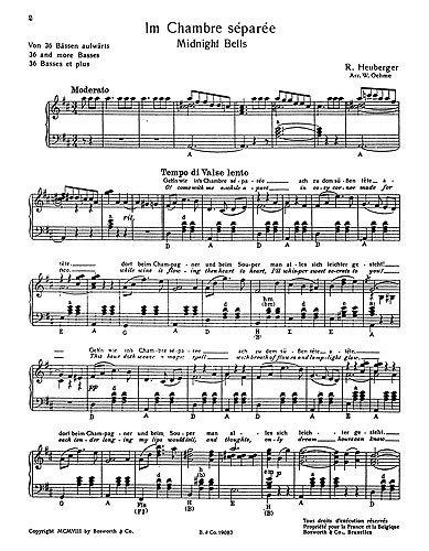Richard Heuberger: Midnight Bells (Accordion). Partitions pour Accordéon