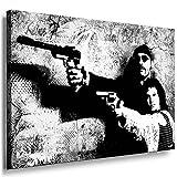 Bild auf Keilrahmen - Leon Der Profi - Fotoleinwand24 / AA0164 / Schwarz-Weiß / 70x50 cm