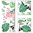 Flamingo Framed Painting/Posters for Room Decoration, Set of 3 White Frame Art Prints/Posters for Living Room by Painting Man
