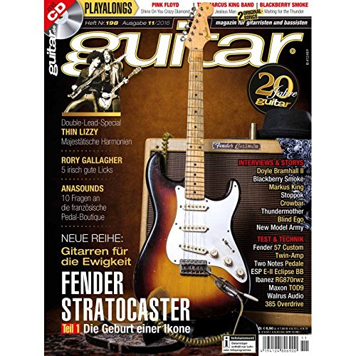 Guitar 11 2016 mit CD - Fender Stratocaster - Interviews - Workshops - Gitarre Playalongs - Gitarre Test und Technik
