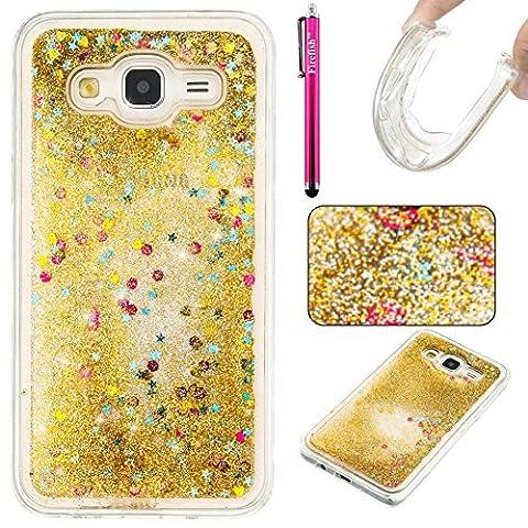 Galaxy J5(2015) Hülle, Firefish Glitter Liquid Cover Slim Weiche TPU Gummi Silikon Fall Impact Resistant Durable Schutzhülle für Samsung Galaxy J5 2015