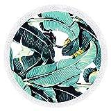 Eizur Mandala Runde Quasten Tapisserie Strandtuch Beach Towel Schal Wrap Hippie Ländlicher Stil Tischdecke Reisetuch Handtuch Picknickdecke Durchmesser 150cm, 5 Typen Optional