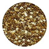 #10: Sequins for craft, Embroidery, Jewellery making art and DIY Kit, 2.5 MM, Dark Gold Color Crystal Finish(50 Gram)