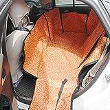 Schutzbezug für Autositze / Auto-Hundedecke, universell passend, aus hochwertigem Oxford-Baumwollgewebe gefertigt, wasserabweisend, 4-farbig mit Wolkenmuster bedruckt 130 * 150 * 55 cm Orange