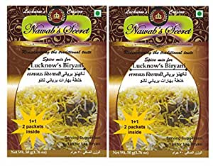 Nawab's Secret Lucknows Biryani Masala, 55 Grams Pack Of 2