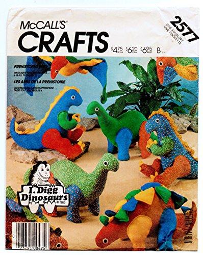 McCall 's 2577Prähistorische Pets-4Spielzeug Dinosaurier Schnittmuster