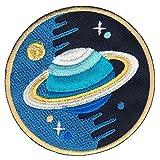 Saturn Planet Aufnäher Bügelbild