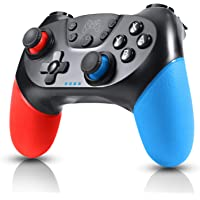 Gezimetie Switch Controller Wireless Switch Pro Controller Gamepad Joypad for Nintendo Switch Console and PC Supports Gyro Axis and Dual Vibration(Red and Blue)
