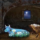 Statue aus Kunstharz | Kuh blau