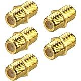 VCE F-koppling guldpläterad F-typ koaxial RG6-kontakt, kabelförlängningsadapter