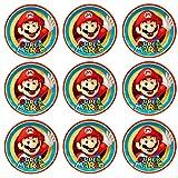 9 Stück Muffinaufleger Muffinfoto Aufleger Foto Bild Super Mario Bros (34) rund ca. 6 cm *NEU*OVP*