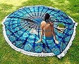 indischen Mandala Beach Wirft Bohemian Tribal Picknick Überwurf Tisch, Mandala Tapisserie rund Meditation Yoga Matte, 182,9cm.
